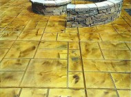 Mottled look with stained concrete