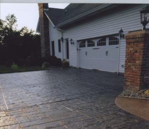stamped natural stone finish