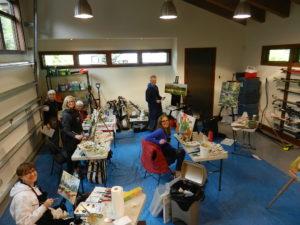 garage into artists area