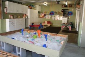 garage into play area