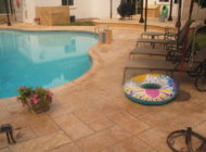 concrete pool deck limestone coating Nashville TN