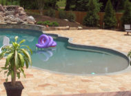 Pool Deck Resurfacing with Limestone Coating